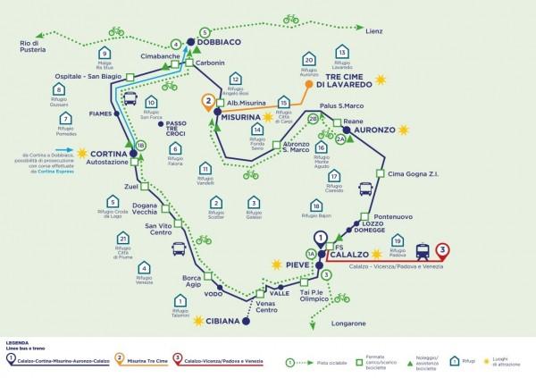 mappa-percorso_treno bus delle dolomiti