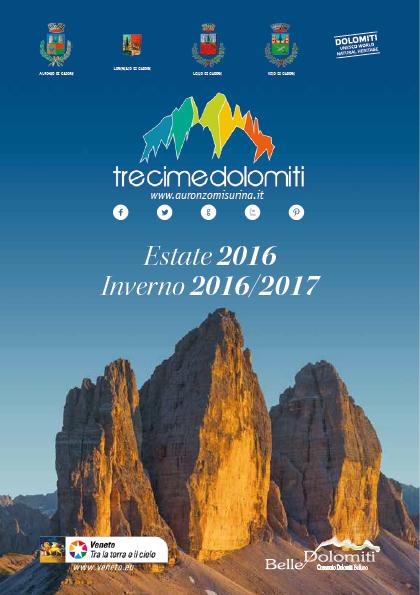 Catalogo Tre Cime Dolomiti 2016 / 2017