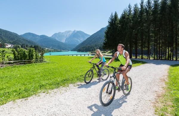 tre cime bike Fahrradweg auronzo see